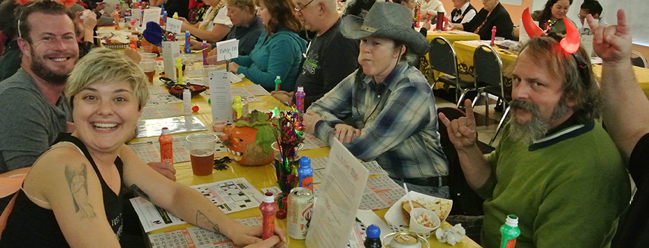 group playing bingo at Spook-tacular