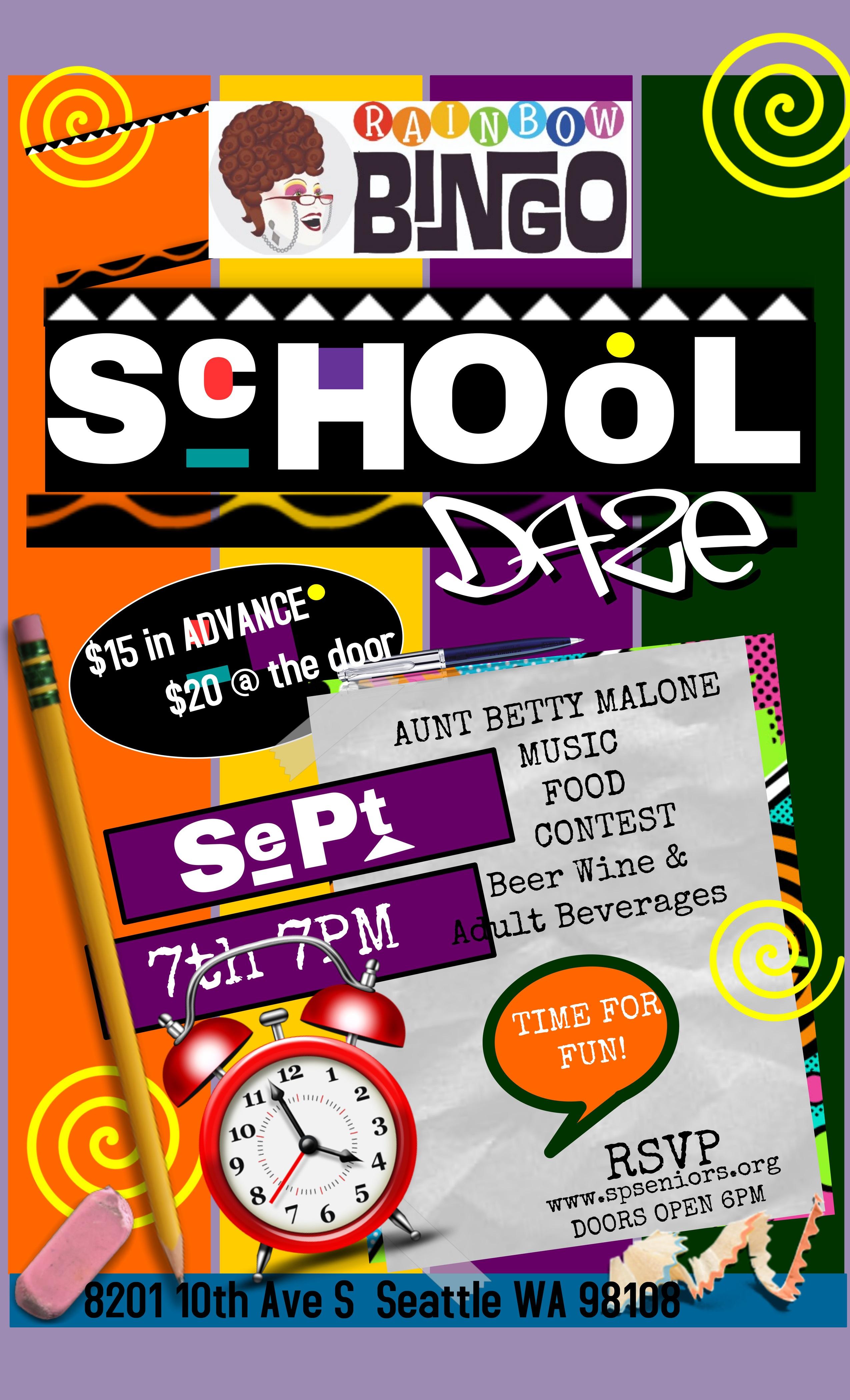 Join Us on September 7th for School Daze BINGO!