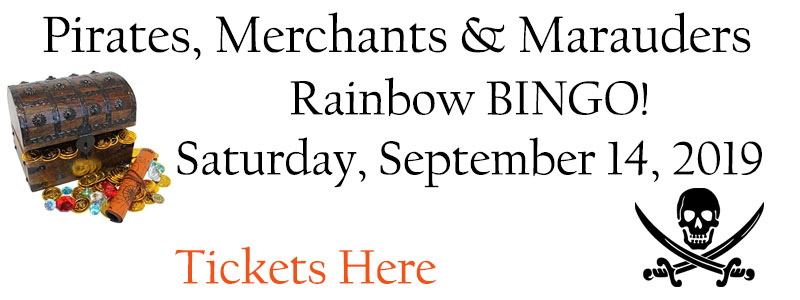 Rainbow BINGO! Pirates, Merchants & Marauders, Saturday, September 14, 5:30 -10:00 pm